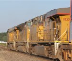 UP 5523 is apart of this wb stack train.